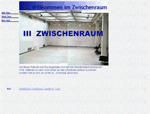Tablet Preview of 123-zwischenraum.de